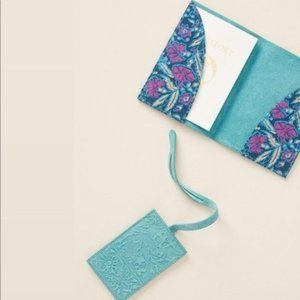 New! Anthropologie Embossed Suede PassPort Holder